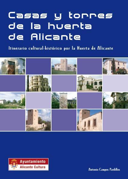 Portada Guía didáctica de Casas y Torres de la huerta de Alicante