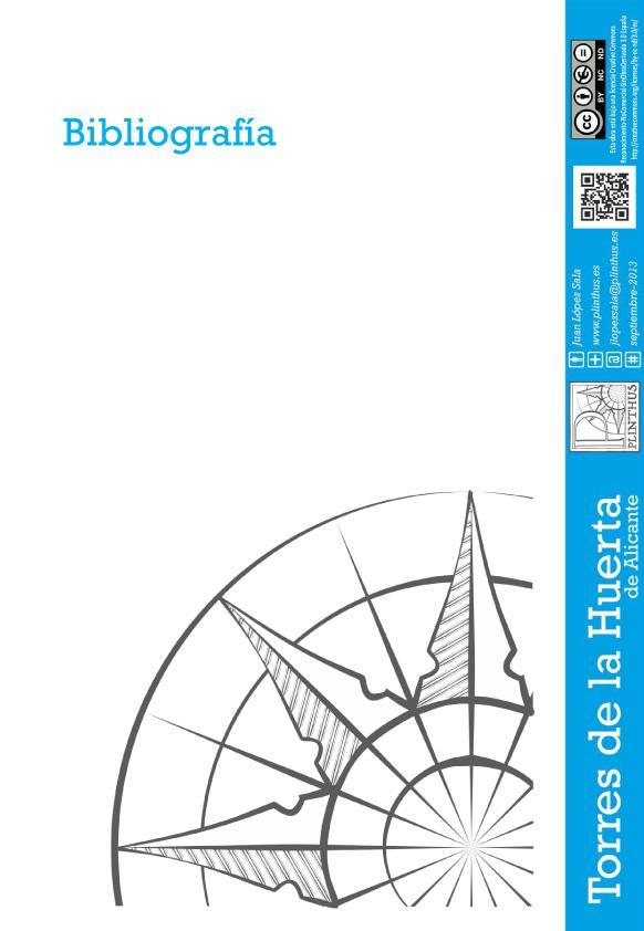 Portada Guía Torres de la huerta de Alicante. Bibliografía