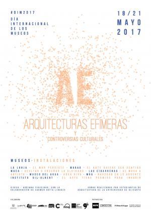 Cartel Arquitecturas Efímeras y Controversias Culturales