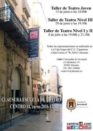 Cartel escuela de teatro Centro14