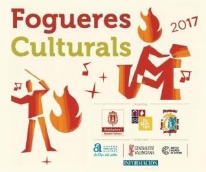 Fragmento del cartel general del programa Fogueres Culturals