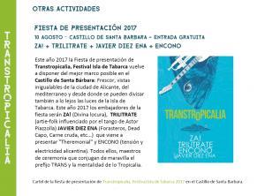 Fiesta presentación Festival de Tabarca