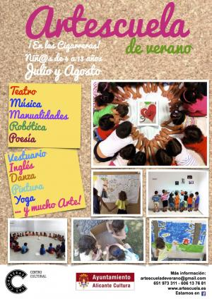 Cartel Artescuela de verano Alicante