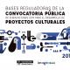 Convocatoria de subvenciones a proyectos culturales