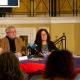 El edil de Cultura, Antonio Manresa y la subdirectora del Teatro, Mª Dolores Padilla en la presentación de la programación de primavera del Teatro Principal