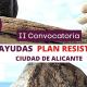 Webinar II convocatoria Plan Resistir ciudad de Alicante