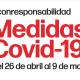 Nuevas medidas frente covid 19 en la C.V.