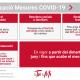 Cartell informatiu actualització de mesures de Generalitat Valenciana per a frenar la Covid-19 des del 8 de juny de 2021.